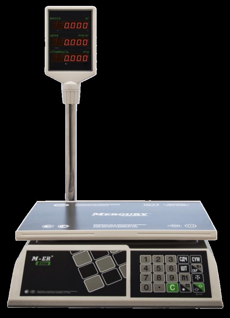 Весы M-ER 326ACP LED white