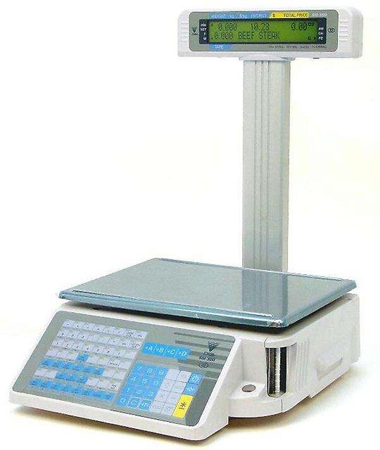 Весы с печатью этикеток DIGI SM-300 15.5 со стойкой.
