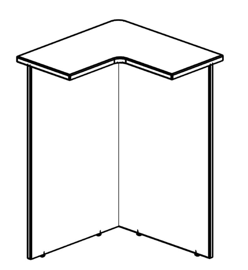 Стойка ресепшен угловая DMS 88(L/R)